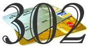 Credit card with 302 Credit Score