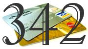 Credit card with 342 Credit Score
