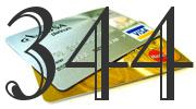 Credit card with 344 Credit Score