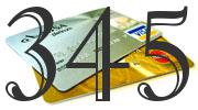 Credit card with 345 Credit Score