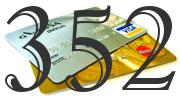 Credit card with 352 Credit Score
