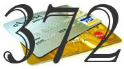 Credit card with 372 Credit Score