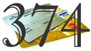 Credit card with 374 Credit Score