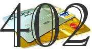 Credit card with 402 Credit Score