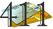 Credit card with 411 Credit Score