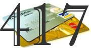 Credit card with 417 Credit Score