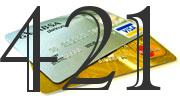 Credit card with 421 Credit Score