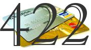 Credit card with 422 Credit Score