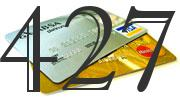 Credit card with 427 Credit Score