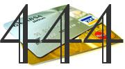 Credit card with 444 Credit Score