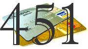 Credit card with 451 Credit Score