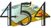 Credit card with 454 Credit Score