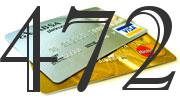 Credit card with 472 Credit Score