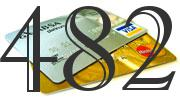 Credit card with 482 Credit Score
