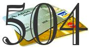 Credit card with 504 Credit Score
