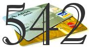 Credit card with 542 Credit Score
