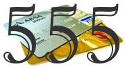 Credit card with 555 Credit Score