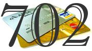Credit card with 702 Credit Score