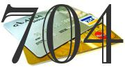 Credit card with 704 Credit Score