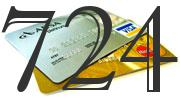 Credit card with 724 Credit Score