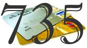 Credit card with 735 Credit Score