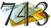 Credit card with 743 Credit Score