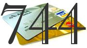 Credit card with 744 Credit Score