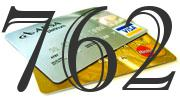 Credit card with 762 Credit Score