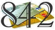 Credit card with 842 Credit Score