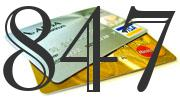 Credit card with 847 Credit Score